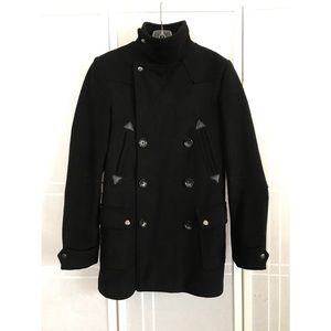 Double breasted military pea coat by Asos